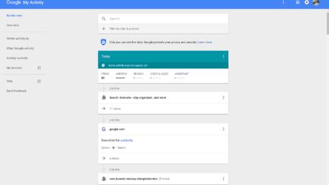 Head to Google Activity