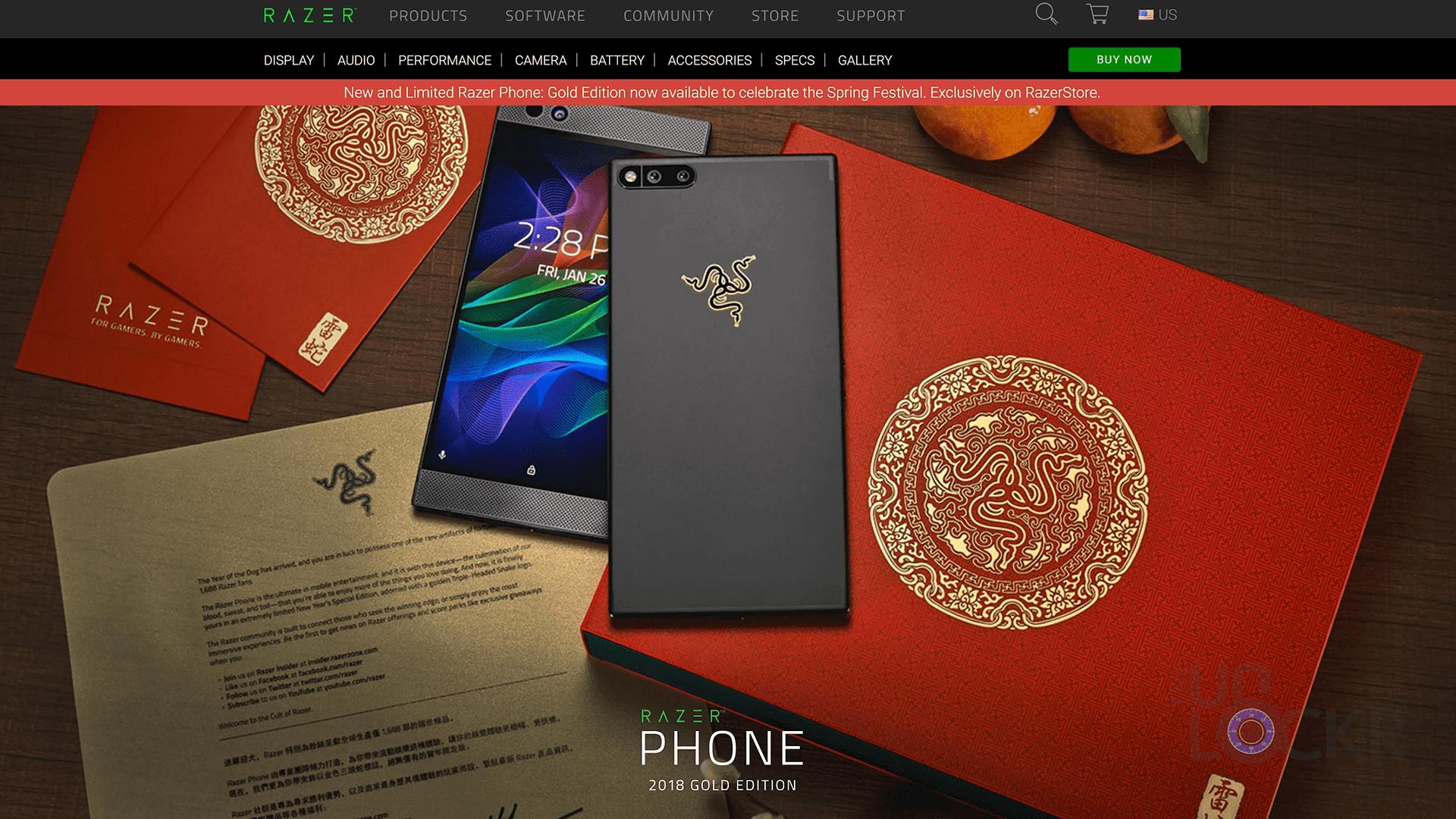 razer phone 2018 limited gold edition