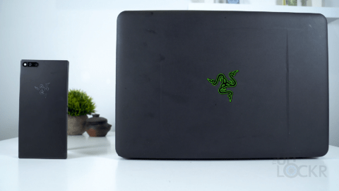 Razer Phone Next to Razer Blade