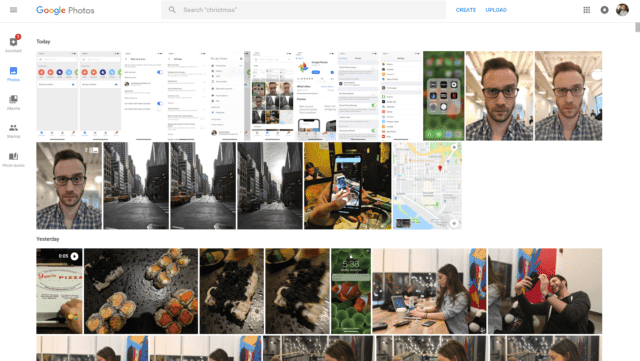 Google Photos in Browser