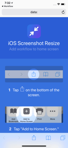 Add the Workflow to the Home Screen