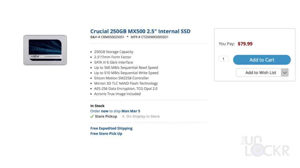 Crucial SSD Price
