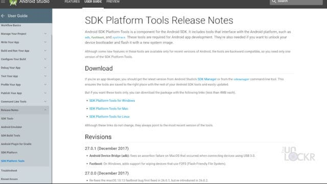Download Platform Tools