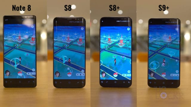 S9+ vs S8+ vs S8 vs Note8 Speed Test