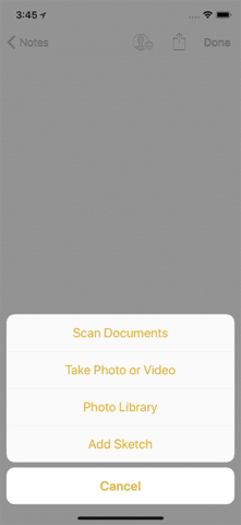 Tap Scan Document