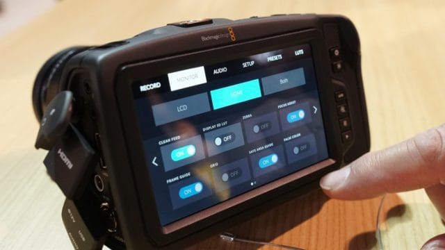Touchscreen Controls on the Pocket Cinema Camera 4K