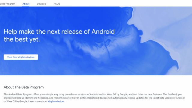 Android Beta Site