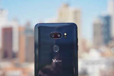 LG V35 Close Up on Cameras