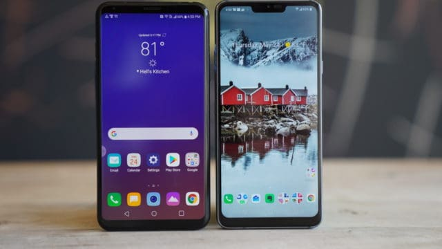 LG V35 vs LG G7 Screens