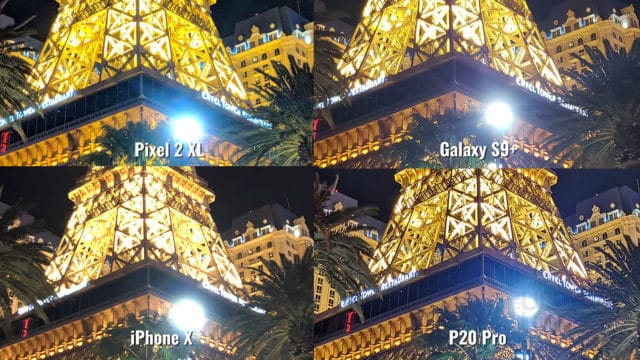Eiffel Tower Photo Night Mode Zoomed IN