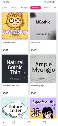LG G7 Modern Fonts