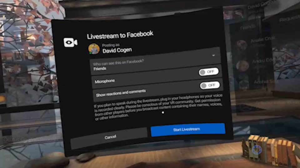Oculus Go Live Streaming