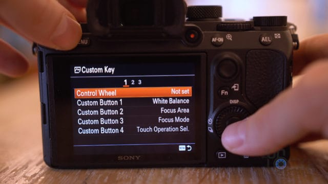 Sony A7III Setting Custom Dial Action