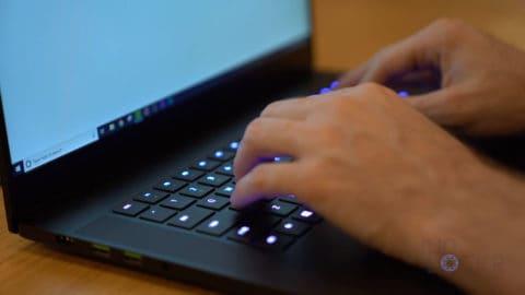 Typing on Razer Blade 15