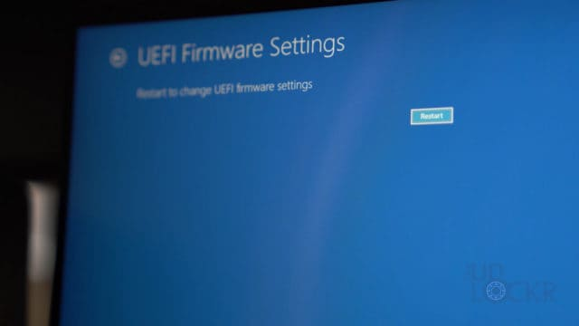 Reboot UEFI Settings