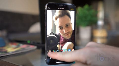 Tap Animoji in Camera