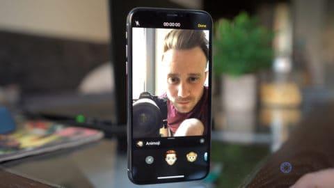 Tap on Memoji in Camera