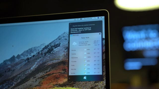 MacBook Pro Siri