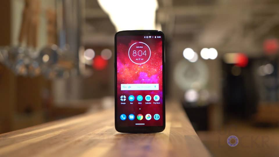 Moto Z3 Play on Counter