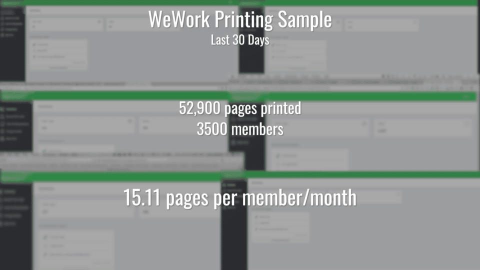 WeWork Printing Results