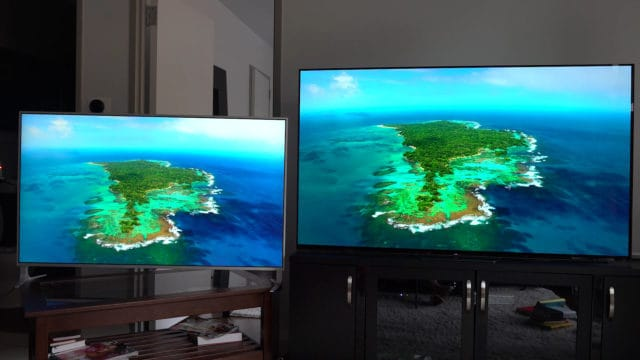 Two TVs Side By Side Color Comparison