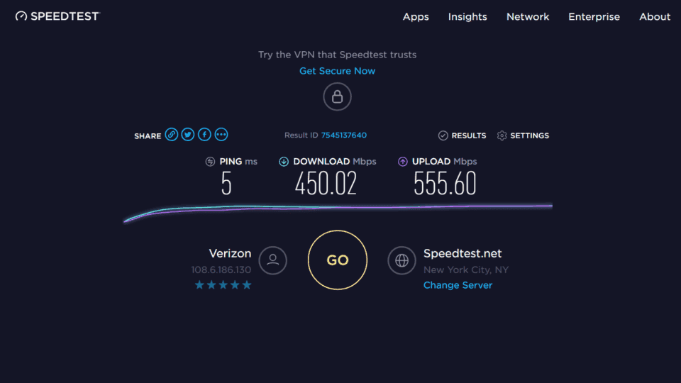 Bitdefender BOX Speedtest