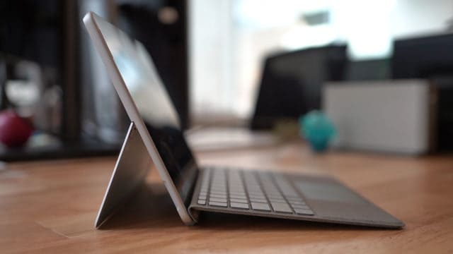 Left Side View of Surface Go