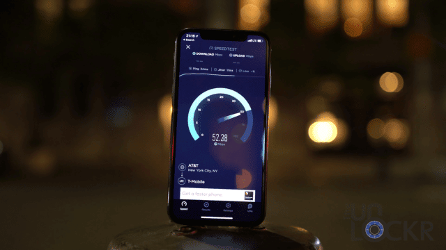 iPhone X SpeedTest