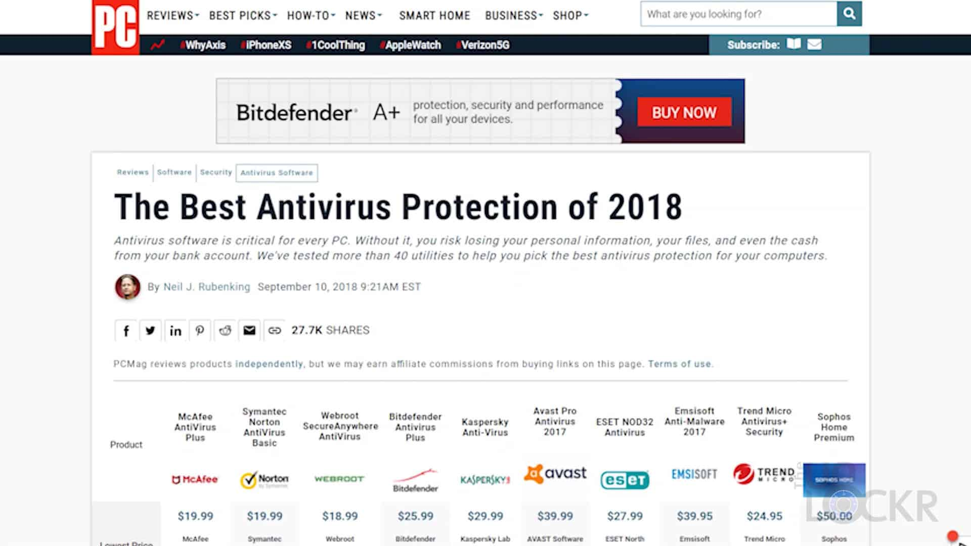 Best Antivirus Software in 2018?
