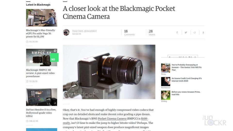 Original Blacmagic Pocket Cinema Camera