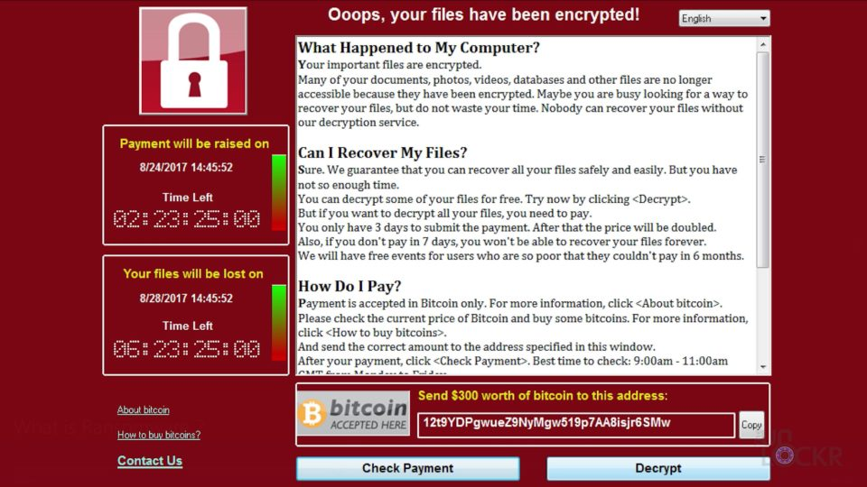 WannaCry Message