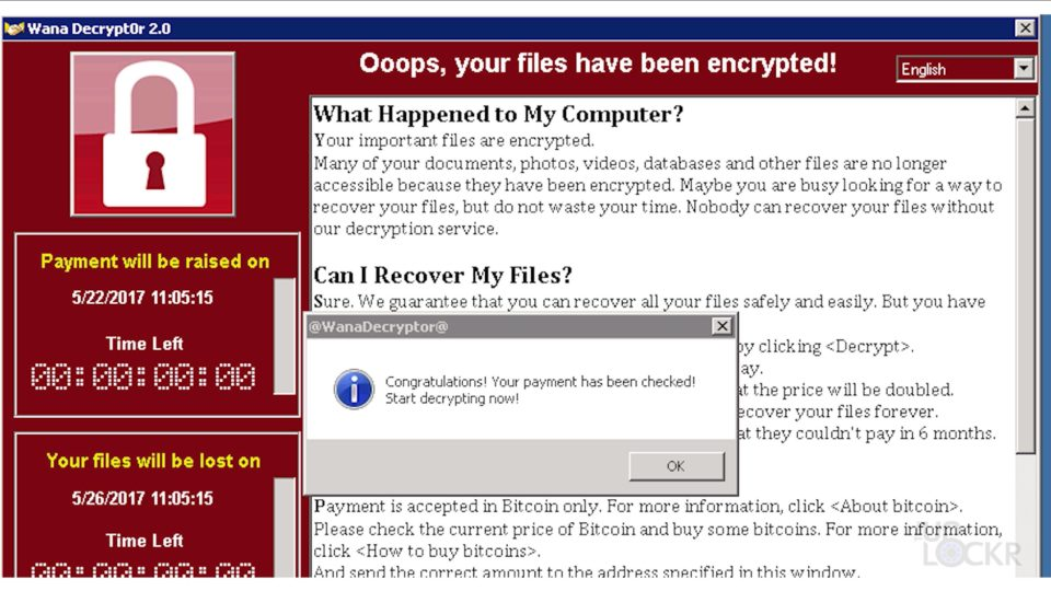 WannaCry Paid Message