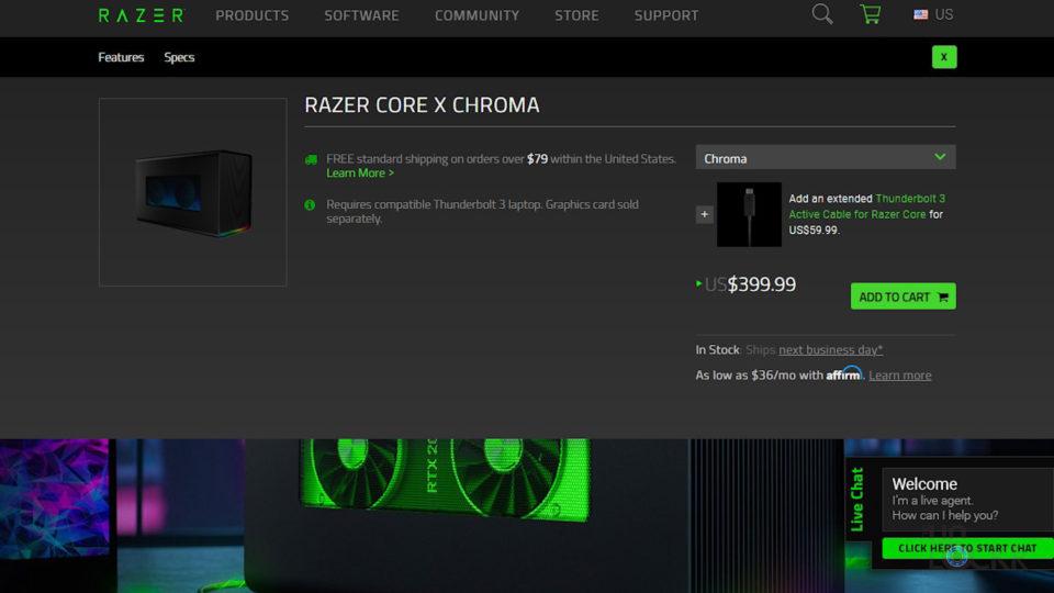 Core X Chroma Price