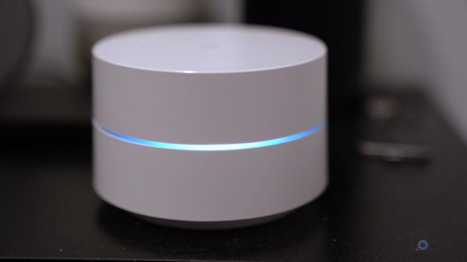 Google Wifi Hub LED on Nightstand
